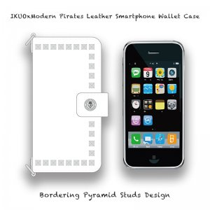 <img class='new_mark_img1' src='//img.shop-pro.jp/img/new/icons13.gif' style='border:none;display:inline;margin:0px;padding:0px;width:auto;' />【 IKUOxModern Pirates Leather Smartphone Wallet Case / Bordering Pyramid Studs Design  (White) 】