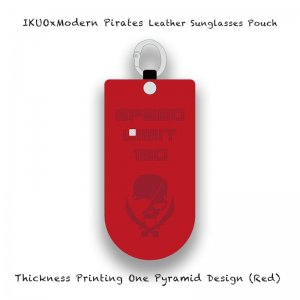 <img class='new_mark_img1' src='//img.shop-pro.jp/img/new/icons13.gif' style='border:none;display:inline;margin:0px;padding:0px;width:auto;' />【 IKUOxModern Pirates Leather Sunglasses Pouch / Thickness Printing One Pyramid Design (Red) 】