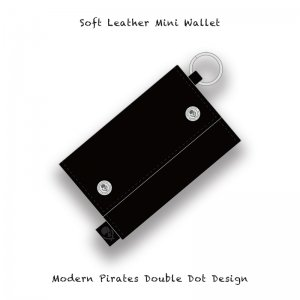 【 Soft Leather Mini Wallet /  Modern Pirates Double Dot Design 】