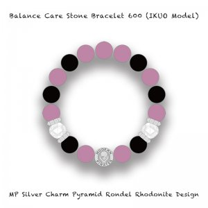 <img class='new_mark_img1' src='//img.shop-pro.jp/img/new/icons13.gif' style='border:none;display:inline;margin:0px;padding:0px;width:auto;' />【 Balance Care Stone Bracelet 600 / MP Silver Charm Pyramid Rondel Rhodonite Design (IKUO Model) 】