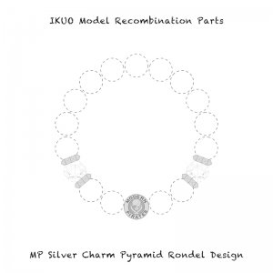 【 IKUO Model Recombination Parts / MP Silver Charm Pyramid Rondel Rhodonite Design 】