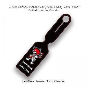 【 IkuoxModern Pirates Solo Tour Collaboration Goods / Leather Name Tag Charm 】