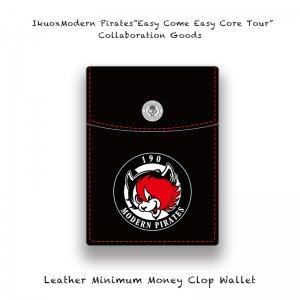 【 IkuoxModern Pirates Solo Tour Collaboration Goods / Leather Minimum  Money Clip Wallet 】