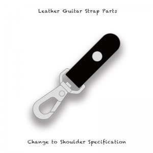【 Leather Guitar Strap Parts / Change to Shoulder Specification 002 】