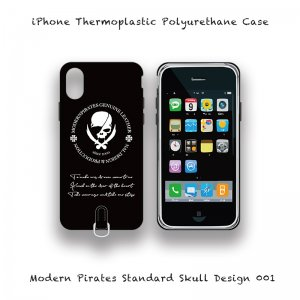 <img class='new_mark_img1' src='//img.shop-pro.jp/img/new/icons13.gif' style='border:none;display:inline;margin:0px;padding:0px;width:auto;' />【 iPhone Thermoplastic Polyurethane Case / Modern Pirates Standard Skull Design 001 】