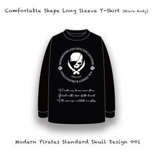 <img class='new_mark_img1' src='//img.shop-pro.jp/img/new/icons13.gif' style='border:none;display:inline;margin:0px;padding:0px;width:auto;' />【 Comfortable Shape Long Sleeve T-Shirt / Modern Pirates Standard Skull Design 001  (5.6oz) 】