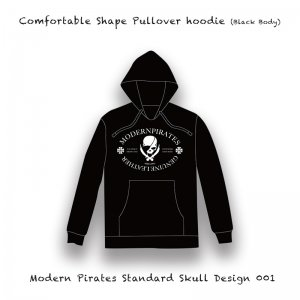 【 Comfortable Shape Pullover hoodie / Modern Pirates Standard Skull Design 001  (10oz) 】