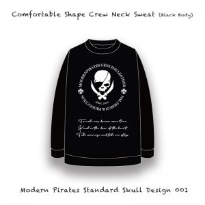 <img class='new_mark_img1' src='//img.shop-pro.jp/img/new/icons13.gif' style='border:none;display:inline;margin:0px;padding:0px;width:auto;' />【 Comfortable Shape Crew Neck Sweat / Modern Pirates Standard Skull Design 001  (10oz) 】