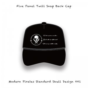 <img class='new_mark_img1' src='//img.shop-pro.jp/img/new/icons13.gif' style='border:none;display:inline;margin:0px;padding:0px;width:auto;' />【 Five Panel Twill Snap Back Cap / Modern Pirates Standard Skull Design 001 】
