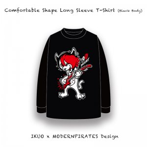 【 Comfortable Shape Long Sleeve T-Shirt / IKUO x MODERNPIRATES Design  (5.6oz・Black Body) 】