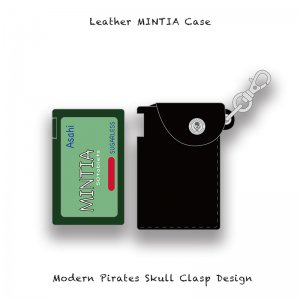 【 Leather MINTIA Case / Modern Pirates Skull Clasp Design 】
