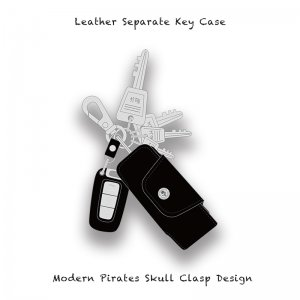 【 Leather Separate Key Case / Modern Pirates Skull Clasp Design 】