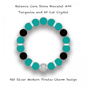 <img class='new_mark_img1' src='//img.shop-pro.jp/img/new/icons13.gif' style='border:none;display:inline;margin:0px;padding:0px;width:auto;' />【 Balance Care Stone Bracelet 400 / MP Silver Charm Turquoise Design (YOSHIHARU SHIINA Model) 】