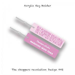【 Acrylic Key Holder / The choppers revolution Design 002 】
