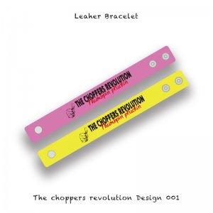 【 Leather Bracelet / The choppers revolution Design 】