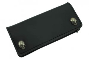 W-Pirates Skull Studs Long Wallet