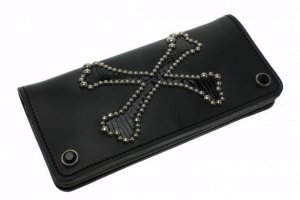 Cross Bone Long Wallet