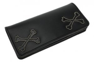 W-Cross Bone Long Wallet