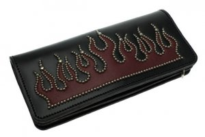 Flame Studs Long Wallet