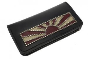 Rising Sun Studs Long Wallet