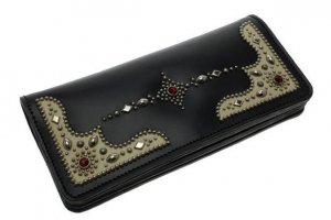Vintage Style Studs Long Wallet Type 001