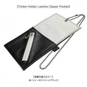 Ticket Holder Leather/Zipper Pocket