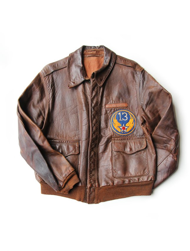 WW2 USAF A-2 FLIGHT JACKET WITH DOCUMENT