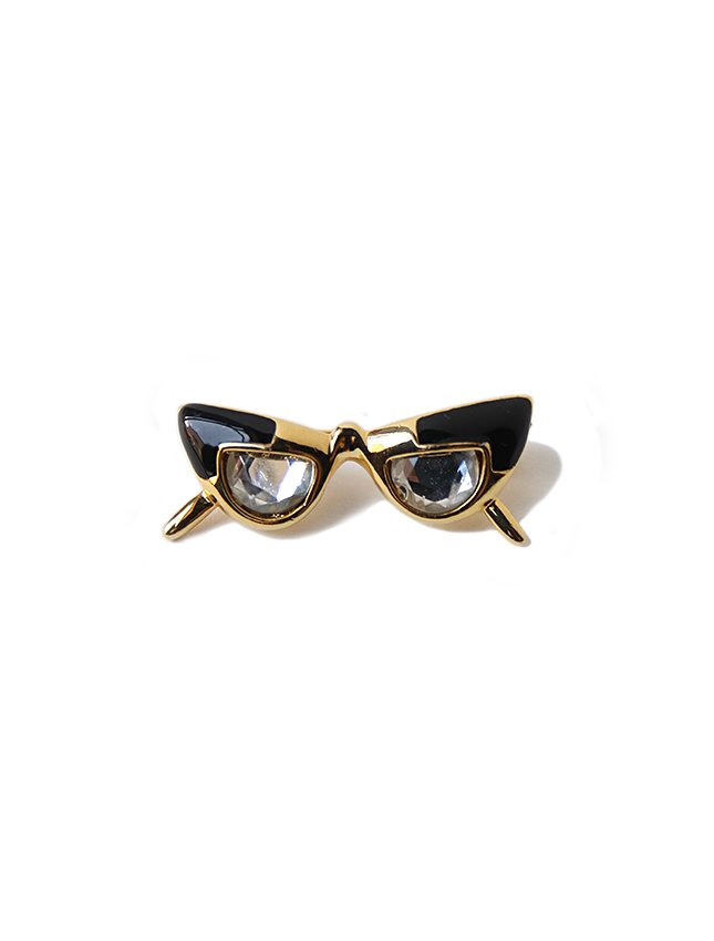 OLD GLASSES MOTIF BROOCH