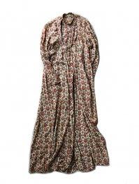 70s VINTAGE INDIAN COTTON GOWN DRESS
