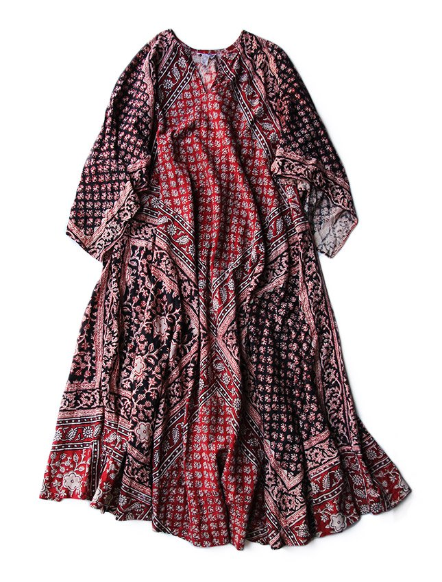 70s VTG INDIA COTTON TUNIC DRESS M