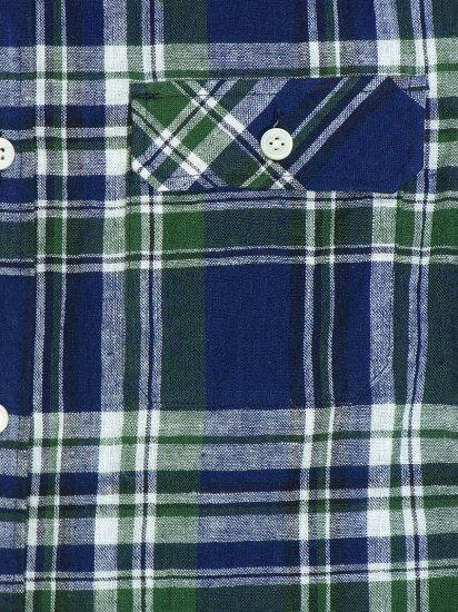 定番のタータンチェックのメンズXSオックスシャツです。フラップをつけたポケット周りがポイントです。ワークパンツやデニムと合わせやすく通年を通して長くご使用いただけます。