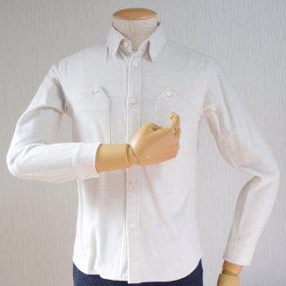 【完売】秋フランネルシャツ (ホワイト・XSサイズ)