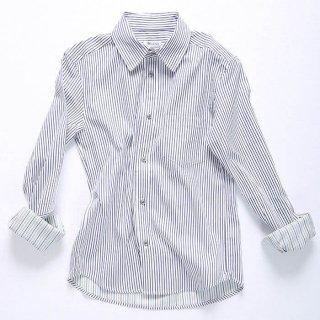 ストライプシャツ(ネイビー×ホワイト)XSサイズ・Sサイズ