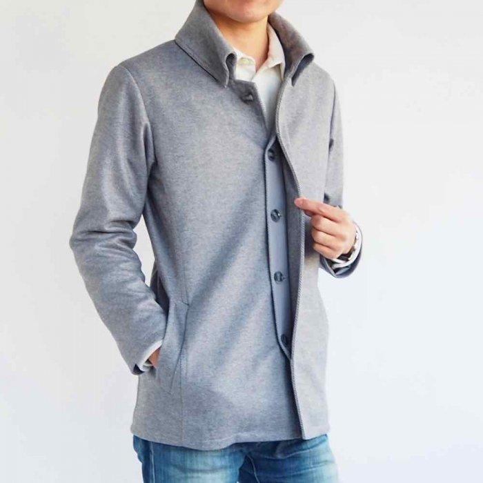 小柄低身長な男性XSサイズの返し襟コート