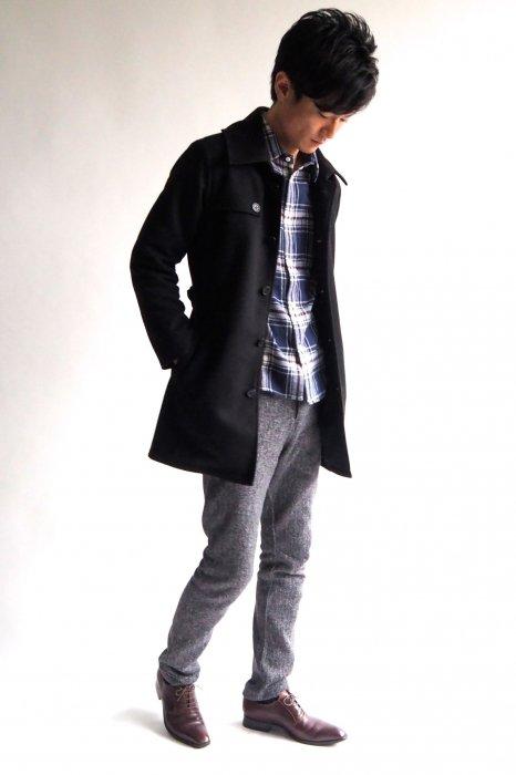 小柄低身長な男性XSサイズのシングルトレンチコート