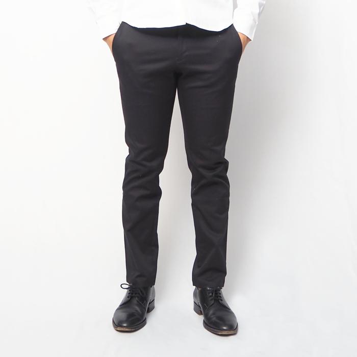 黒テーパードスラックスパンツ(ブラック・XSサイズ)