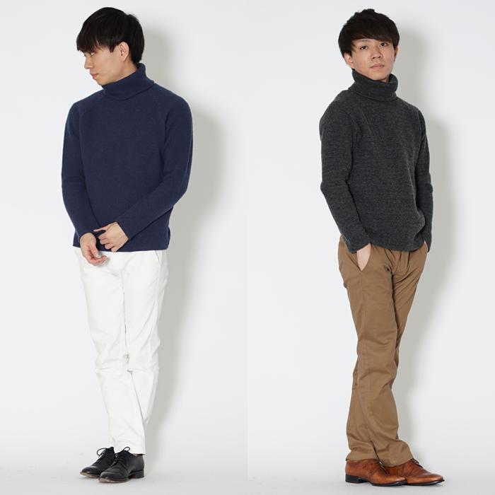 冬の定番アイテム、タートルネックセーター。小柄な男性の体にフィットする絶妙なサイズ感と、伸びにくい耐久性が魅力のXSサイズセーターです。