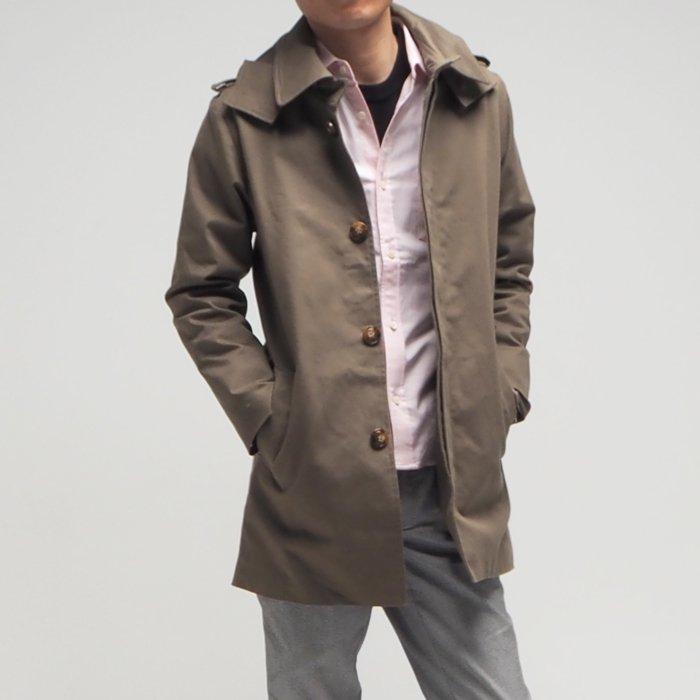 メンズXSのロング丈トレンチ風スプリングコート。サイジングにこだわり、キレイなシルエットを追求したこれまでの常識を覆す大人キレイロング丈コートです。