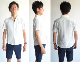 379b6028d6b97b 小柄・低身長な男性のための軽量サッカー半袖シャツ/ホワイト メンズXS ...