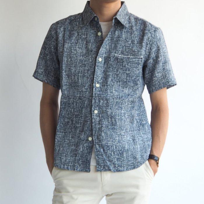 半袖ハードマンズリネンシャツ(XSサイズ・グレー)