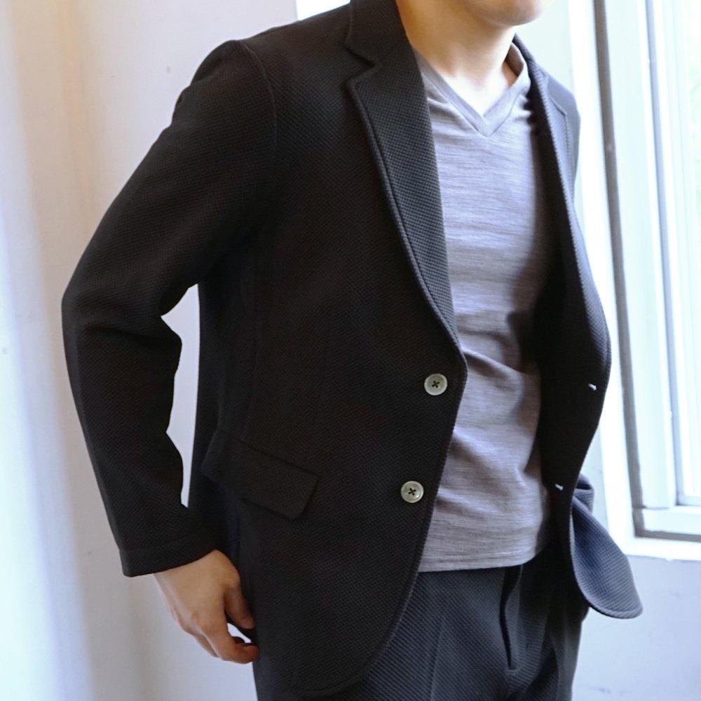 XSサイズ アウター1位はジャージーセットアップジャケット(ネイビー/ブラック・XS)。快適な着心地とお手軽にコーデできる魅力のジャケット。