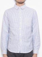 【完売】オックスストライプシャツ(ネイビー×ホワイト・XSサイズ)