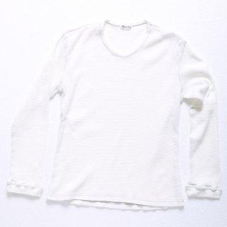 【ラスト1着】サーマル長袖Tシャツ(ホワイト)XSサイズ