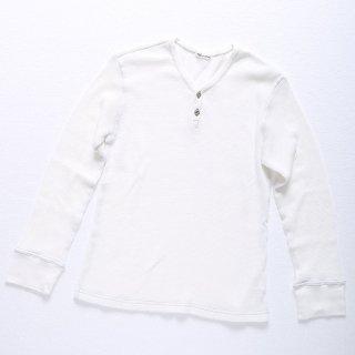 【完売】サーマル長袖ヘンリーネックTシャツ(ホワイト)XSサイズ