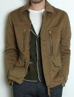 【完売】スレン染めストレッチ地 F−2ジャケット XSサイズ