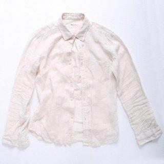 【ラスト1着】涼しさ漂うフレンチリネンシャツ(オフベージュ) XSサイズ
