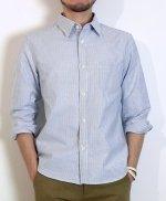 【完売】ストライプシャツ (ホワイト×ネイビー) XSサイズ