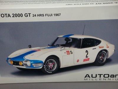 1/18 オートアート TOYOTA 2000 GT 24 HRS FUJI 1967 #2