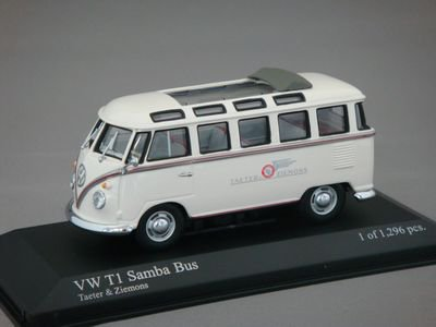 """1/43 ミニチャンプス VW Samba Bus 1960 """"Taeter&Ziemons"""""""