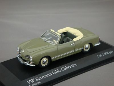 1/43 ミニチャンプス VW Karmann Ghia カブリオレ 1957-59 (グリーン)